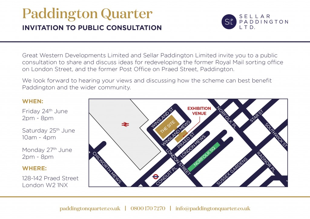 Paddington Quarter Public Consultation Invitation